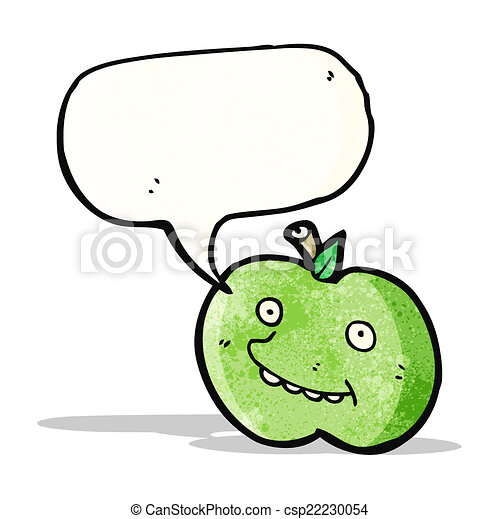面白い, 漫画, スピーチ, アップル, 泡 - csp22230054