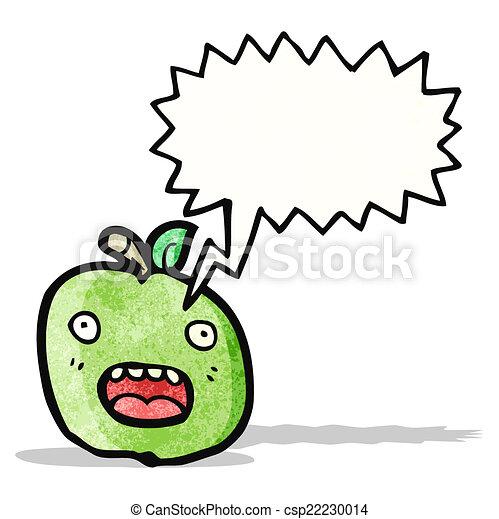 面白い, 漫画, スピーチ, アップル, 泡 - csp22230014