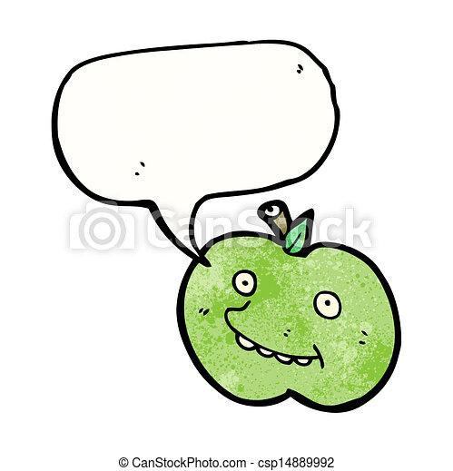 面白い, 漫画, スピーチ, アップル, 泡 - csp14889992