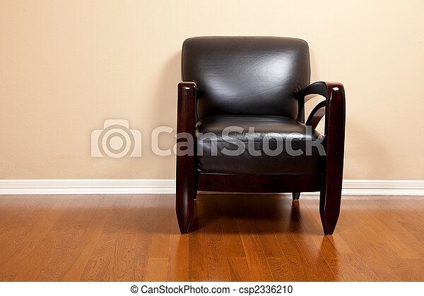 革, 家, 椅子, 黒, 空 - csp2336210