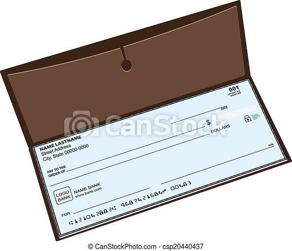 革, 小切手帳. しまっておくこと...