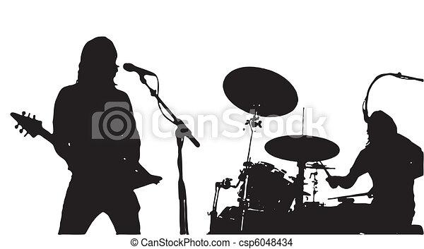 音楽家, guitarist, drumer - csp6048434