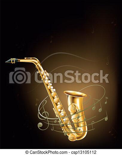 音楽的な ノート, サクソフォーン - csp13105112