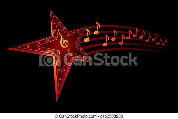 音楽, 星 - csp2508268