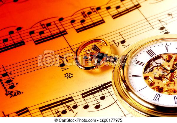 音楽, 時間 - csp0177975
