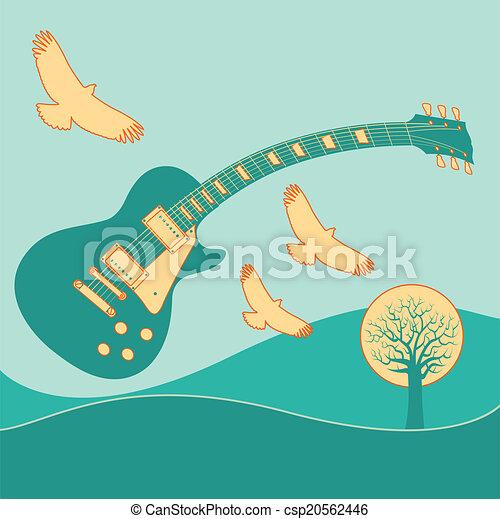 音楽, 背景 - csp20562446