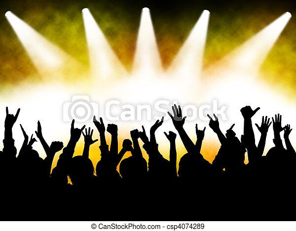 音樂會, 人群 - csp4074289