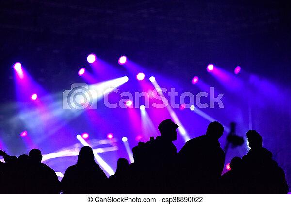 音樂會, 人群 - csp38890022