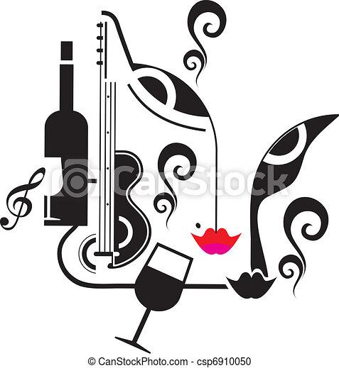 音樂, 飲料, 黨 - csp6910050