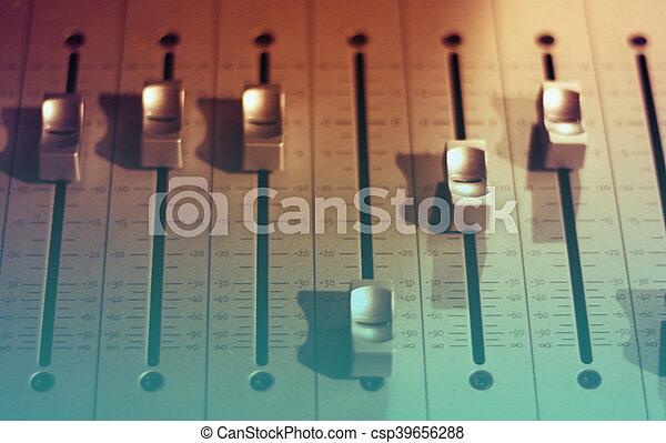 音, オーディオ, スタジオ, ミキサー - csp39656288