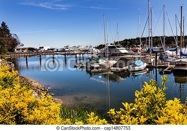 音, puget, 港アイランド, ワシントン州, bainbridge - csp14807753