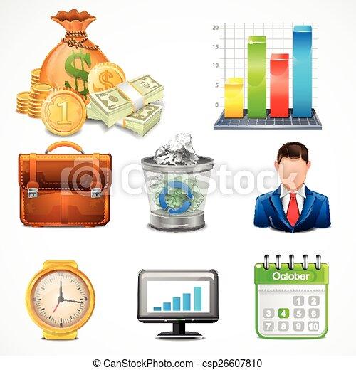 項目, ベクトル, アイコン, ビジネス - csp26607810