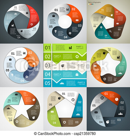 項目, 現代, 矢量, 事務, infographics - csp21359780