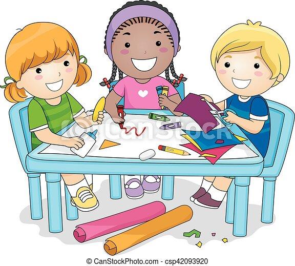 項目, 組, 孩子, 藝術 - csp42093920