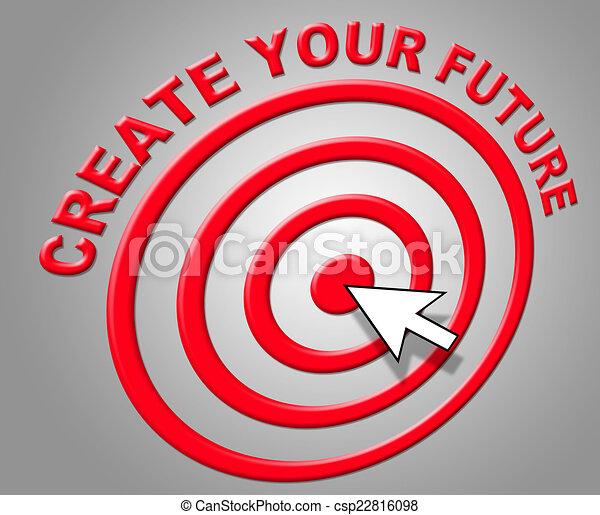 預測, 建立, 預言, 表明, 未來, 建造, 你 - csp22816098
