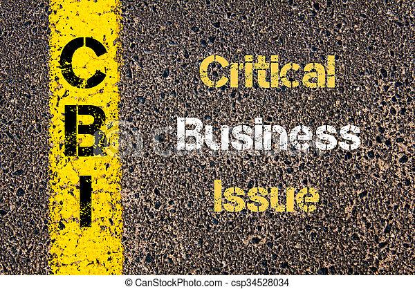 頭字語, cbi, 問題, 重大, ビジネス - csp34528034