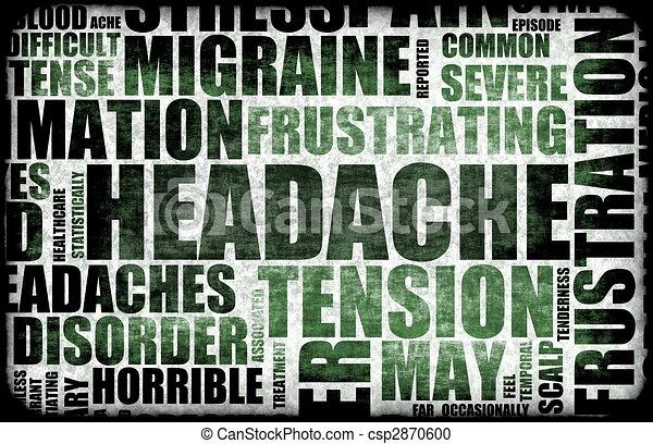 頭痛 - csp2870600