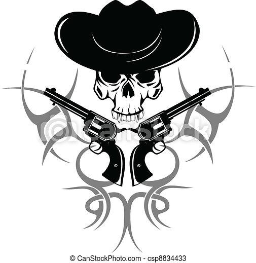 頭骨, 帽子 - csp8834433