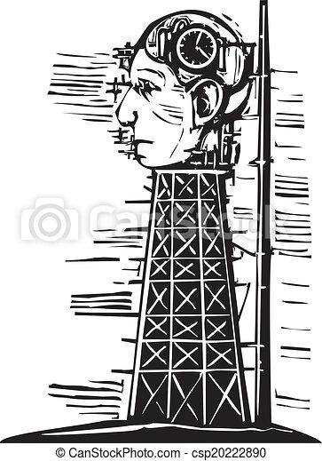 頭, タワー - csp20222890