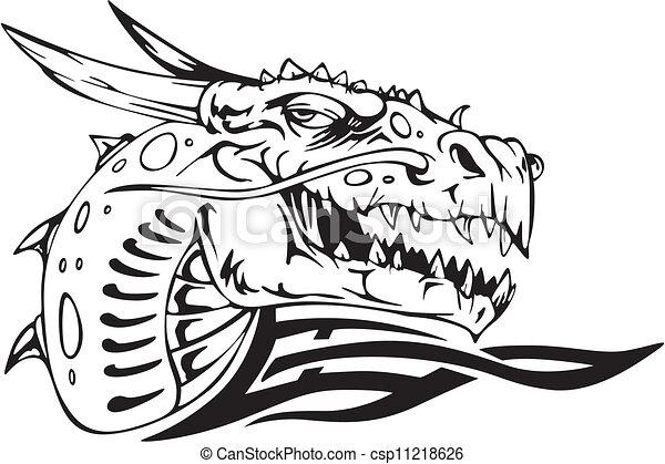 頭, ドラゴン - csp11218626