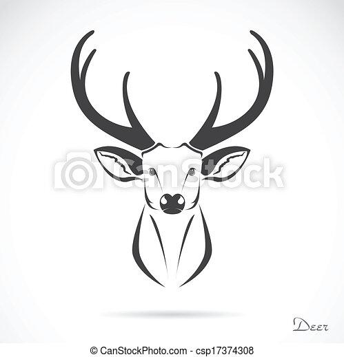 頭, ベクトル, 鹿, イメージ - csp17374308