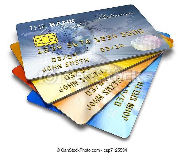 顏色, 卡片, 集合, 信用 - csp7125534