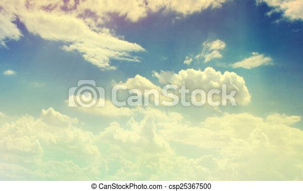 顏色, 天空, 多雲 - csp25367500