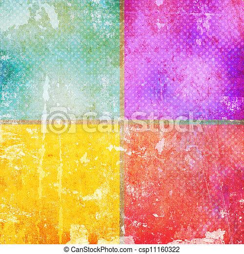顏色, 葡萄酒, 正方形 - csp11160322