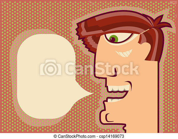 顔, デザイン, 背景, 漫画, speaking.vector, 人 - csp14169073