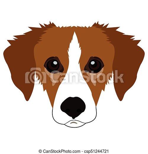 顔 犬アイコン ベクトル キツネ 隔離された イラスト 顔 背景 白