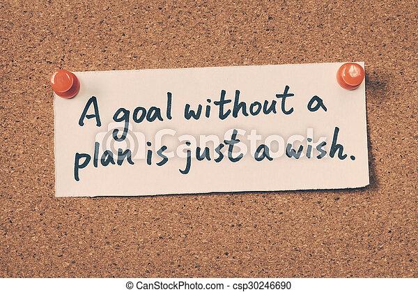 願い, なしで, ゴール, ただ, 計画 - csp30246690