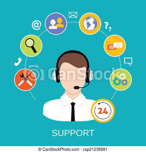 顧客サポート, サービス - csp21238991
