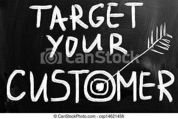 顧客, ターゲット, あなたの - csp14621456