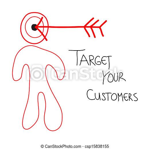 顧客, ターゲット, あなたの - csp15838155