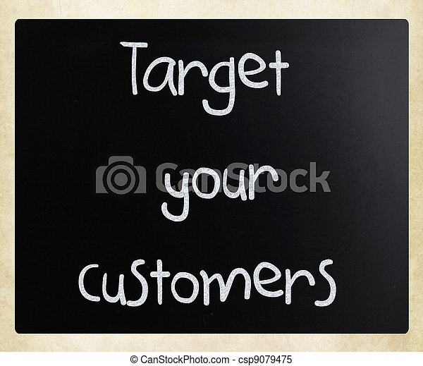 顧客, ターゲット, あなたの - csp9079475