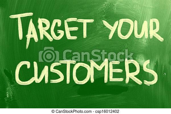顧客, ターゲット, あなたの - csp16012402
