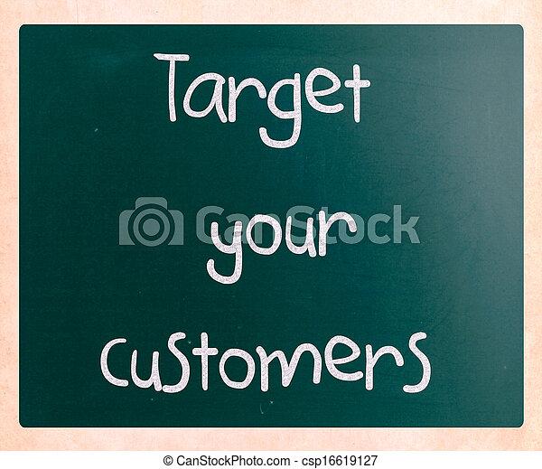 顧客, ターゲット, あなたの - csp16619127