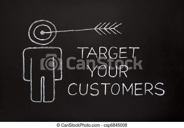顧客, ターゲット, あなたの - csp6845008