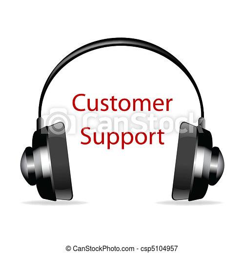 顧客, テキスト, サポート, ヘッドホン - csp5104957