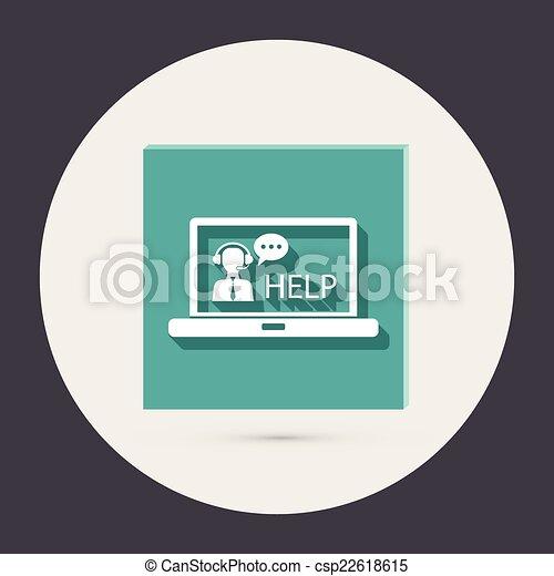 顧客, ラップトップ, サポート - csp22618615