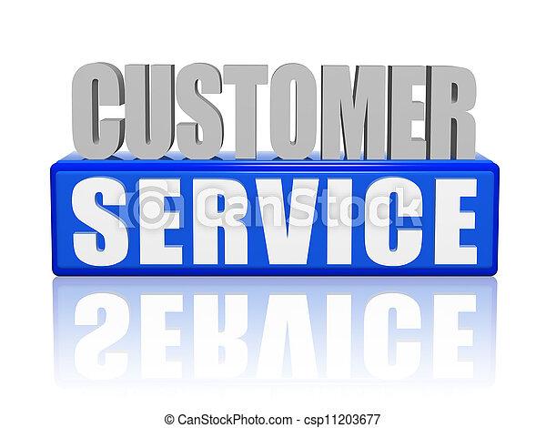 顧客, -, 手紙, ブロック, サービス - csp11203677