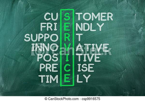 顧客, 概念, サービス - csp9916575