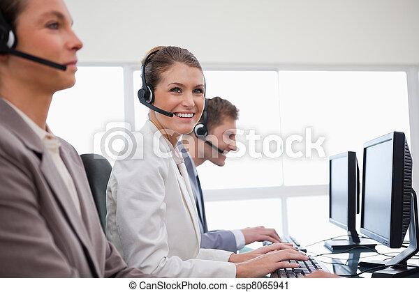 顧客, 看法, 辦公室, 服務, 邊 - csp8065941