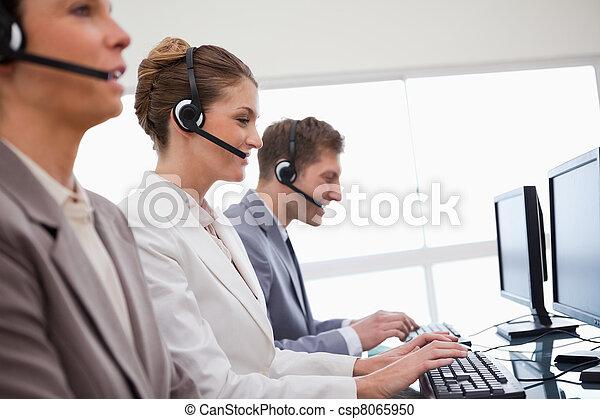 顧客, 部門, 邊, 服務, 看法 - csp8065950