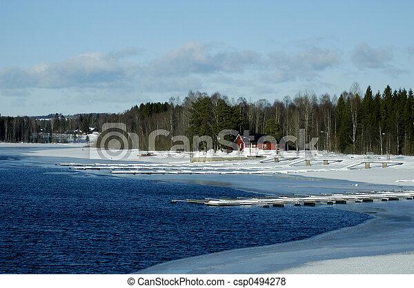 風景, 冬 - csp0494278