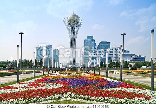 風景, 市の, astana. - csp11919168