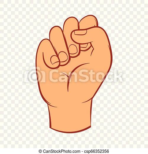 風格, 被緊握, 手, 拳頭, 圖象, 卡通 - csp66352356