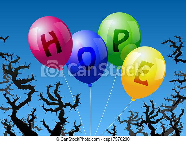 風船, 希望 - csp17370230