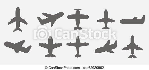飛行機, ベクトル, アイコン - csp62920962