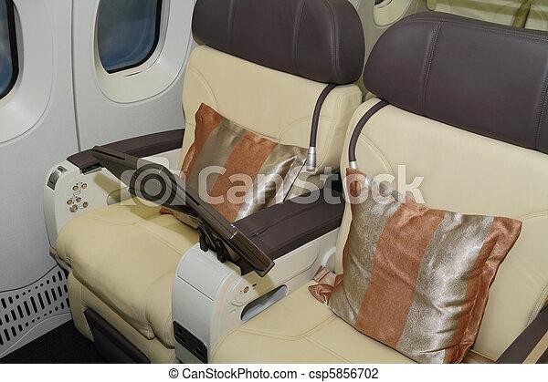 飛行機, 席 - csp5856702